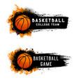 basketball ball team game streetball sport club vector image vector image