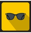 Black sunglasses icon flat style vector image vector image