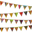 Bunting flags with ethnic motifs vector image vector image