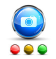 camera button vector image vector image