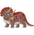 cartoon brontosaurus vector image vector image
