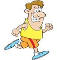 Cartoon man running vector image vector image
