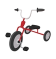 Children red tricycle cartoon icon vector image vector image