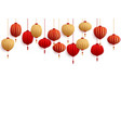 chinese new year decorative paper lanterns vector image