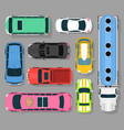 city car vehicle transport top view car automobile vector image vector image