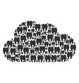 cloud composition of tooth icons vector image vector image