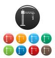 construction crane icons set color vector image