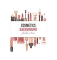 cosmetics background poster fashion time vector image