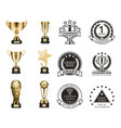 cup prizes gold collection vector image vector image