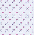 cupid bow and hearts background vector image vector image