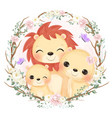 cute animals in watercolor vector image vector image