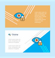 eye locked abstract corporate business banner vector image