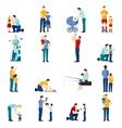 Fatherhood icons set vector image