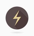 fine lightningflat icon with lightning vector image vector image