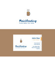 flat coffee logo and visiting card template vector image vector image