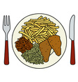 Food on the plate vector image vector image