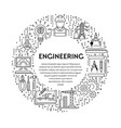 genetics and construction engineering line icons vector image