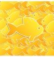 goldfish background vector image