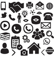 Hand drawn Social Network icon set vector image vector image