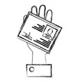Hand with id licence