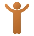 Hands Up Child Gradient Icon vector image vector image