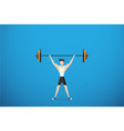 healthy man lifting weights health concept vector image