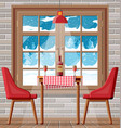 interior house dining room table with chairs vector image