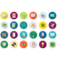 IT technology rouns icons set vector image vector image
