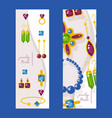 jewelry store website banners vector image
