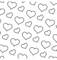 line art heart graphic shape background vector image vector image