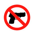 no gun sign - isolated vector image vector image
