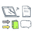 office book and files thought bubble set vector image vector image