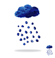Oil painted cloud with rain drops vector image vector image