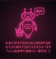 online customer chatbot neon light icon vector image vector image