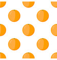 orange seamless pattern vegetarian fresh food vector image