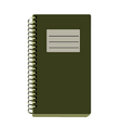 Paper Notebook vector image vector image