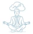 Peaceful businessman meditating vector image vector image