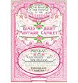 Pink Floral Vintage Wedding Invite vector image vector image