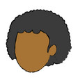 portrait woman female cartoon image vector image vector image