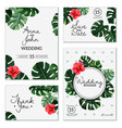 realistic house plant wedding cards vector image vector image