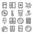 refrigerator and fridge icons set line style vector image vector image