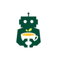 robot tea leaf cup drink cyborg automatic vector image vector image