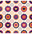 seamless pattern with hearts and flowers vector image