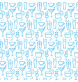 seamless pattern with icons drink items vector image vector image