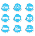 Set of 9 Transport BLUE LABEL vector image