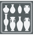 Set of antique vases vector image