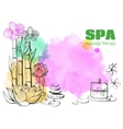 Set of hand drawn elements spa vector image vector image