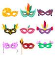 set of venetian masquerade vector image