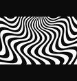 simple background with wavy lines vector image