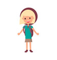 smiling girl scout isolated vector image